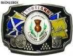 Scottish. Scotland Tartan Army Belt Buckle with display stand. Code BC3